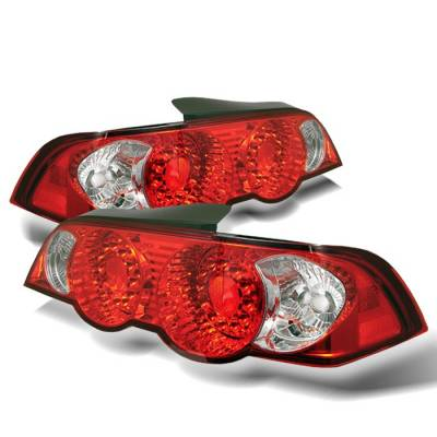 Headlights & Tail Lights - Tail Lights - Spyder - Acura RSX Spyder LED Taillights - Red Clear - 111-ARSX02-LED-RC