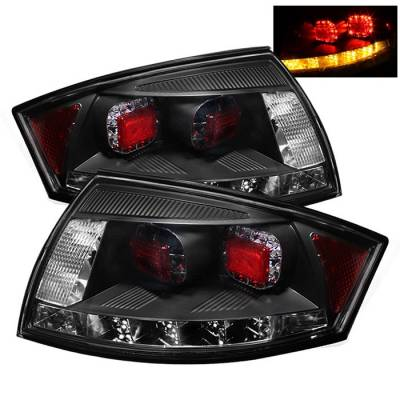 Headlights & Tail Lights - Tail Lights - Spyder - Audi TT Spyder LED Taillights - Black - 111-ATT99-LED-BK
