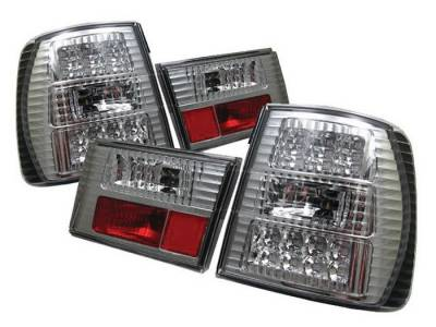 Headlights & Tail Lights - Tail Lights - Spyder - BMW 5 Series Spyder LED Taillights - Chrome - 111-BE3488-LED-C