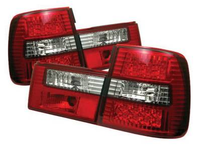 Headlights & Tail Lights - Tail Lights - Spyder - BMW 5 Series Spyder LED Taillights - Red Clear - 111-BE3488-LED-RC