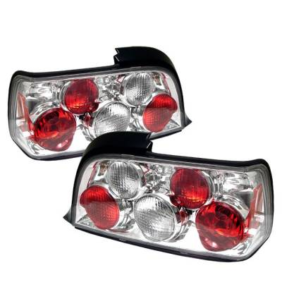 Headlights & Tail Lights - Tail Lights - Spyder - BMW 3 Series 2DR Spyder Euro Style Taillights - Chrome - 111-BE3692-2D-C