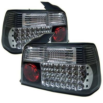 Headlights & Tail Lights - Tail Lights - Spyder - BMW 3 Series 4DR Spyder LED Taillights - Black - 111-BE3692-4D-LED-BK