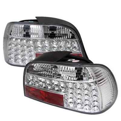 Headlights & Tail Lights - Tail Lights - Spyder - BMW 7 Series Spyder LED Taillights - Chrome - 111-BE3895-LED-C