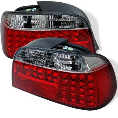 Spyder Auto - BMW 7 Series Spyder LED Taillights - Red Clear - 111-BE3895-LED-C
