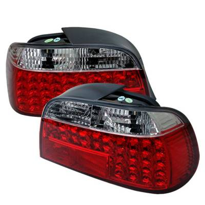 Headlights & Tail Lights - Tail Lights - Spyder - BMW 7 Series Spyder LED Taillights - Red Clear - 111-BE3895-LED-RC