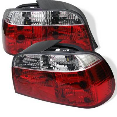 Spyder Auto - BMW 7 Series Spyder Crystal Taillights - Red Clear - 111-BE3895-LED-SM