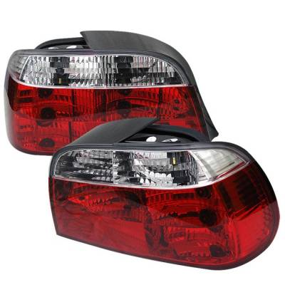 Headlights & Tail Lights - Tail Lights - Spyder - BMW 7 Series Spyder Crystal Taillights - Red Clear - 111-BE3895-RC