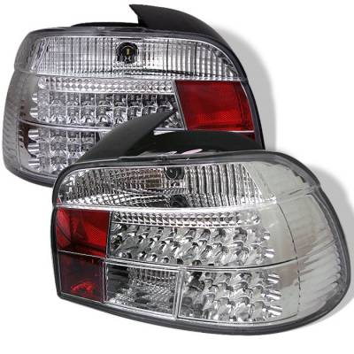 Headlights & Tail Lights - Tail Lights - Spyder - BMW 5 Series Spyder LED Taillights - Chrome - 111-BE3997-LED-C