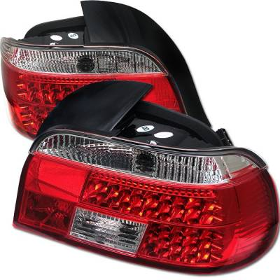 Headlights & Tail Lights - Tail Lights - Spyder - BMW 5 Series Spyder LED Taillights - Red Clear - 111-BE3997-LED-RC