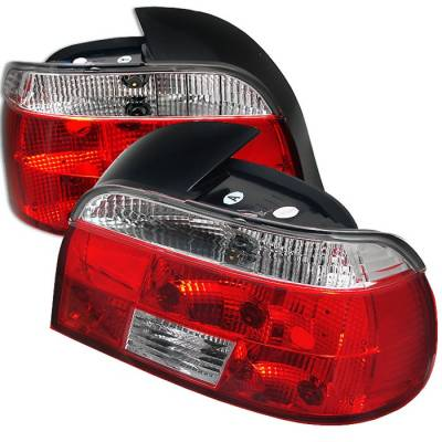 Headlights & Tail Lights - Tail Lights - Spyder - BMW 5 Series Spyder Crystal Taillights - Red Clear - 111-BE3997-RC