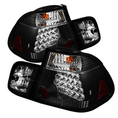 Headlights & Tail Lights - Tail Lights - Spyder - BMW 3 Series 4DR Spyder LED Taillights - Black - 111-BE4602-4D-LED-BK