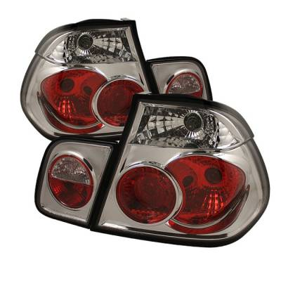 Headlights & Tail Lights - Tail Lights - Spyder - BMW 3 Series 4DR Spyder Euro Style Taillights - Chrome - 111-BE4699-4D-C