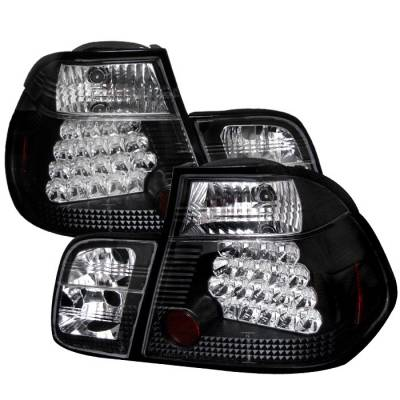 Headlights & Tail Lights - Tail Lights - Spyder - BMW 3 Series 4DR Spyder LED Taillights - Black - 111-BE4699-4D-LED-BK