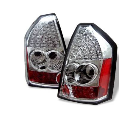 Headlights & Tail Lights - Tail Lights - Spyder - Chrysler 300 Spyder LED Taillights - Chrome - 111-C305-LED-C