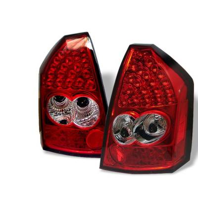 Headlights & Tail Lights - Tail Lights - Spyder - Chrysler 300 Spyder LED Taillights - Red Clear - 111-C305-LED-RC