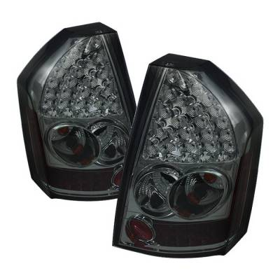 Headlights & Tail Lights - Tail Lights - Spyder Auto - Chrysler 300 Spyder LED Taillights - Smoke - 111-C308-LED-BK