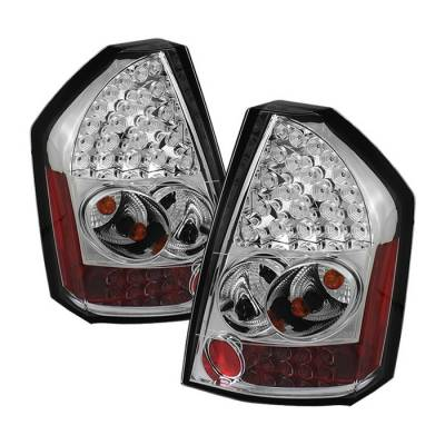 Headlights & Tail Lights - Tail Lights - Spyder - Chrysler 300 Spyder LED Taillights - Chrome - 111-C308-LED-C