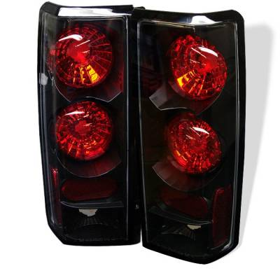 Headlights & Tail Lights - Tail Lights - Spyder - Chevrolet Astro Spyder Euro Style Taillights - Black - 111-CAS85-BK