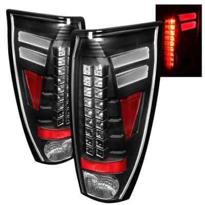 Headlights & Tail Lights - Tail Lights - Spyder Auto - Chevrolet Avalanche Spyder LED Taillights - Black - 111-CAS85-C