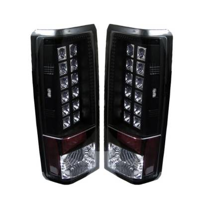 Headlights & Tail Lights - Tail Lights - Spyder - GMC Safari Spyder LED Taillights - Black - 111-CAS85-LED-BK