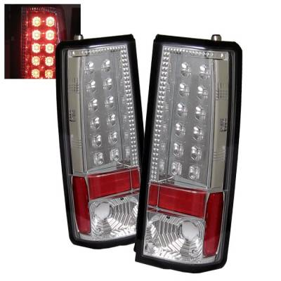 Headlights & Tail Lights - Tail Lights - Spyder - GMC Safari Spyder LED Taillights - Chrome - 111-CAS85-LED-C