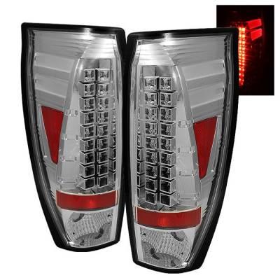 Headlights & Tail Lights - Tail Lights - Spyder - Chevrolet Avalanche Spyder LED Taillights - Chrome - 111-CAV02-LED-C