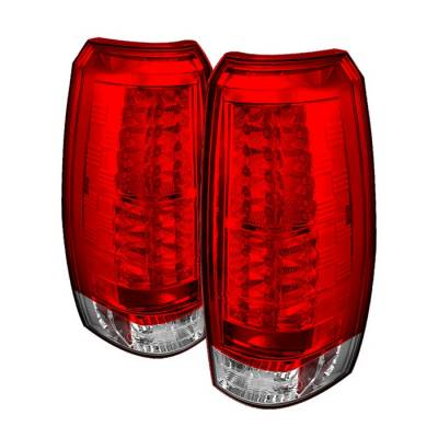 Headlights & Tail Lights - Tail Lights - Spyder - Chevrolet Avalanche Spyder LED Taillights - Red Clear - 111-CAV07-LED-RC