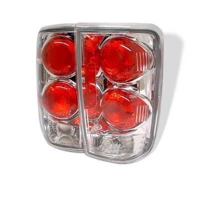 Headlights & Tail Lights - Tail Lights - Spyder - Oldsmobile Bravada Spyder Euro Style Taillights - Chrome - 111-CB95-C