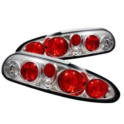 Headlights & Tail Lights - Tail Lights - Spyder - Chevrolet Camaro Spyder Euro Style Taillights - Chrome - 111-CCAM98-C