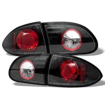 Headlights & Tail Lights - Tail Lights - Spyder - Chevrolet Cavalier Spyder Euro Style Taillights - Black - 111-CCAV95-BK