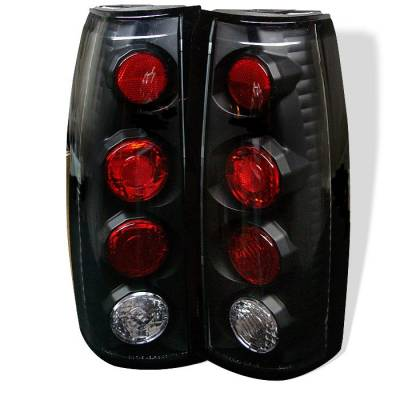 Headlights & Tail Lights - Tail Lights - Spyder - Cadillac Escalade Spyder Euro Style Taillights - Black - 111-CCK88-BK