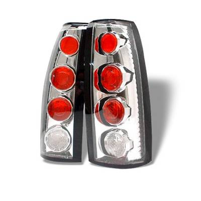 Headlights & Tail Lights - Tail Lights - Spyder - Cadillac Escalade Spyder Euro Style Taillights - Chrome - 111-CCK88-C