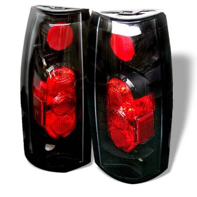 Headlights & Tail Lights - Tail Lights - Spyder - GMC Jimmy Spyder G2 Euro Style Taillights - Black - 111-CCK88G2-BK