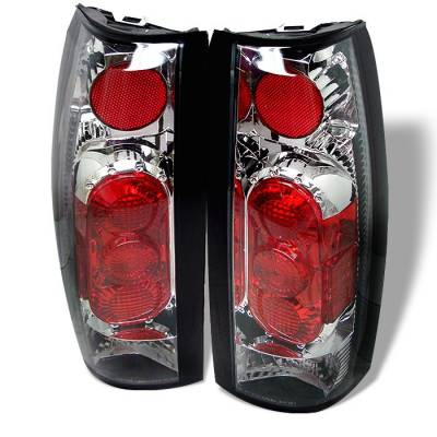 Headlights & Tail Lights - Tail Lights - Spyder - GMC Jimmy Spyder G2 Euro Style Taillights - Chrome - 111-CCK88G2-C