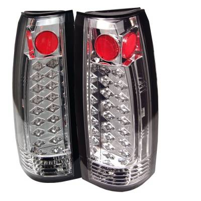 Headlights & Tail Lights - Tail Lights - Spyder - GMC Jimmy Spyder LED Taillights - Chrome - 111-CCK88-LED-C