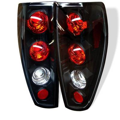 Headlights & Tail Lights - Tail Lights - Spyder - Chevrolet Colorado Spyder Euro Style Taillights - Black - 111-CCO04-BK