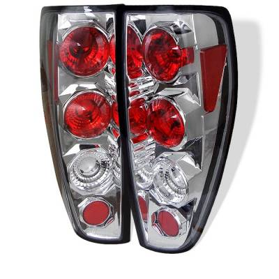Headlights & Tail Lights - Tail Lights - Spyder - Chevrolet Colorado Spyder Euro Style Taillights - Chrome - 111-CCO04-C
