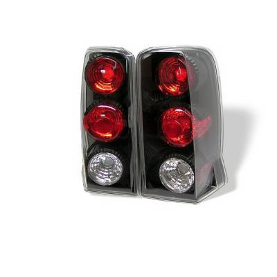 Headlights & Tail Lights - Tail Lights - Spyder Auto - Cadillac Escalade Spyder Altezza Taillights - Black - 111-CD00-LED-RS