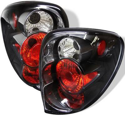 Headlights & Tail Lights - Tail Lights - Spyder - Chrysler Town Country Spyder Euro Style Taillights - Black - 111-DC01-BK