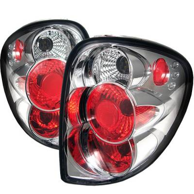Headlights & Tail Lights - Tail Lights - Spyder - Dodge Caravan Spyder Euro Style Taillights - Chrome - 111-DC01-C