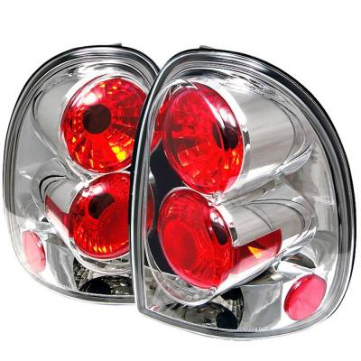 Headlights & Tail Lights - Tail Lights - Spyder - Dodge Caravan Spyder Euro Style Taillights - Chrome - 111-DC96-C