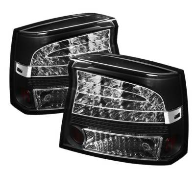 Headlights & Tail Lights - Tail Lights - Spyder Auto - Dodge Charger Spyder LED Taillights - Black - 111-DCH05-LED-RC