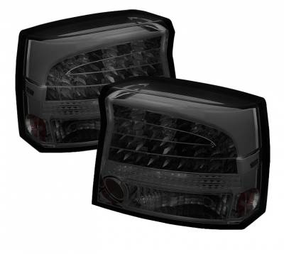 Headlights & Tail Lights - Tail Lights - Spyder Auto - Dodge Charger Spyder LED Taillights - Smoke - 111-DCH09-LED-C