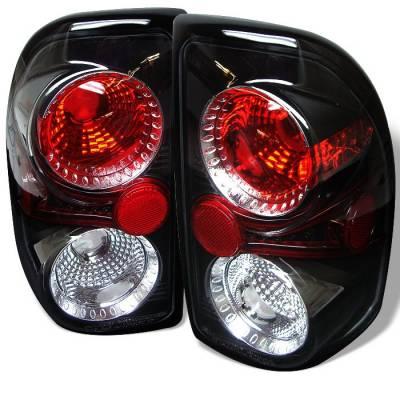 Headlights & Tail Lights - Tail Lights - Spyder - Dodge Dakota Spyder Euro Style Taillights - Black - 111-DDAK97-BK