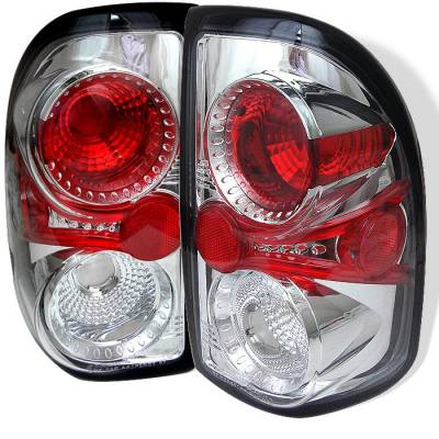 Headlights & Tail Lights - Tail Lights - Spyder - Dodge Dakota Spyder Euro Style Taillights - Chrome - 111-DDAK97-C