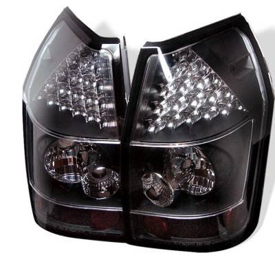 Headlights & Tail Lights - Tail Lights - Spyder - Dodge Magnum Spyder LED Taillights - Black - 111-DMAG05-LED-BK