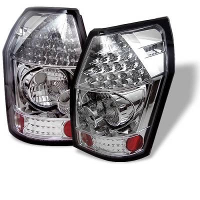 Headlights & Tail Lights - Tail Lights - Spyder - Dodge Magnum Spyder LED Taillights - Chrome - 111-DMAG05-LED-C