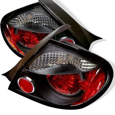 Headlights & Tail Lights - Tail Lights - Spyder - Dodge Neon Spyder Euro Style Taillights - Black - 111-DN03-BK
