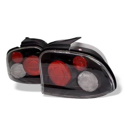 Headlights & Tail Lights - Tail Lights - Spyder - Dodge Neon Spyder Euro Style Taillights - Black - 111-DN95-BK