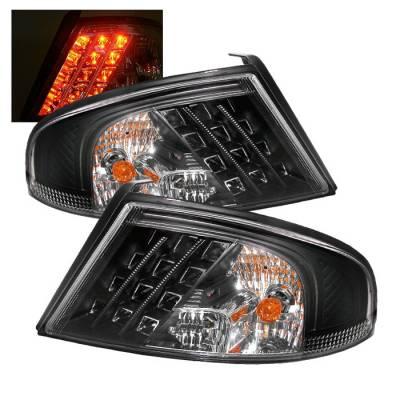 Headlights & Tail Lights - Tail Lights - Spyder Auto - Dodge Stratus 4DR Spyder LED Taillights - Black - 111-DRAM94-SM